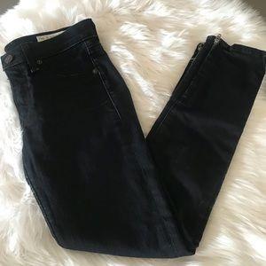 Rag & Bone Skinny Capri Zipper Jeans Size 25